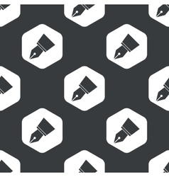 Black hexagon pen nib pattern vector image