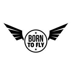 born fly logo simple style vector image