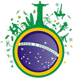 Brazil symbol flag background vector