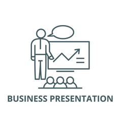 Business presentation line icon business vector