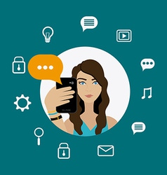 Chat mobile design vector image