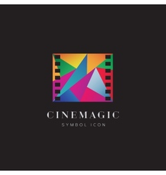 Cinema Magic Abstract Concept Symbol Icon or Logo vector image