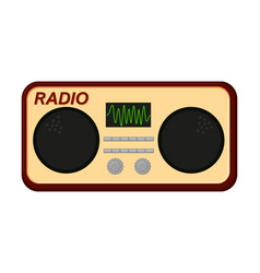 colorful cartoon old radio vector image