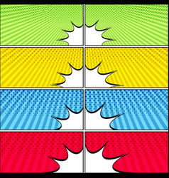comic colorful bright horizontal banners vector image