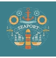 Concept with sea symbols vector image