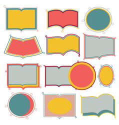 cute doodle frames on white background vector image