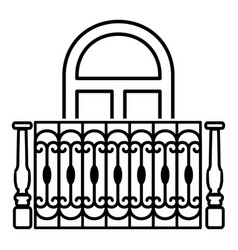 design of balcony icon simple style vector image vector image