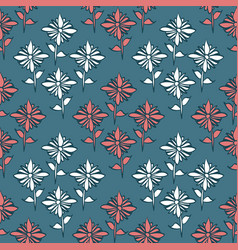diamond shaped layout simple floral pattern vector image