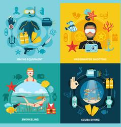 diving design concept vector image
