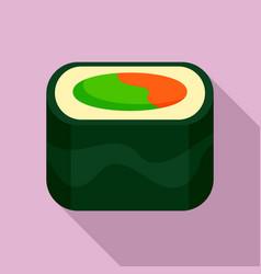 Ebi sushi icon flat style vector