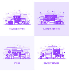 flat line purple designed concepts 14 vector image