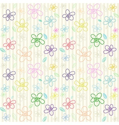 Flower Pattern Color 02 vector image