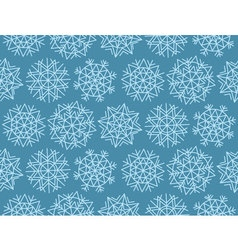 Geometry snowflake on winter gray sky background vector