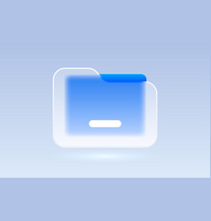 glass file document transparent icon collection vector image