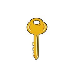 Gold Key Cartoon vector
