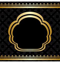 Golden ornament on black background vector