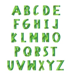 Green eco alphabet vector image