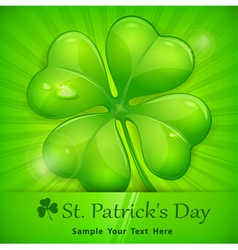 green patricks day sticker vector image