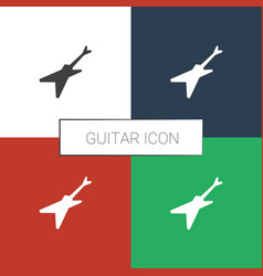 Guitar icon white background vector