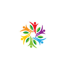 healthy colorful people logo vector image