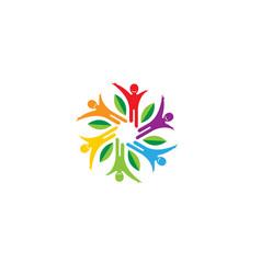 Healthy colorful people logo vector