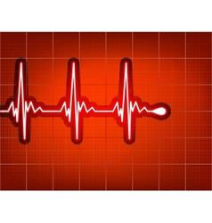 Heart cardiogram vector