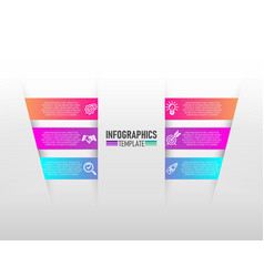 infographics design and marketing icons with 6 vector image