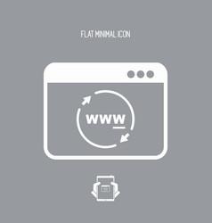internet panel refresh button vector image