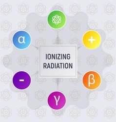 ionizing radiation vector image