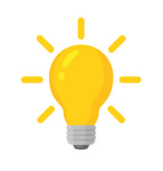 Light bulb with concept vector