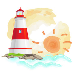 lighthouse construction isolated big vector image