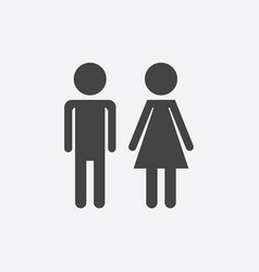 man and woman icon on white background modern vector image