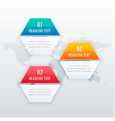 modern three steps infograph template design for vector image