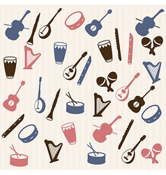 Music elements seamless pattern vector