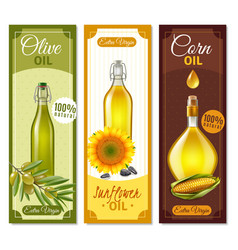 natural product realistic banners vector image