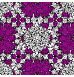 Oriental ornament seamless pattern on magenta vector