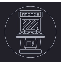 pixel art style simple line drawing of arcade vector image