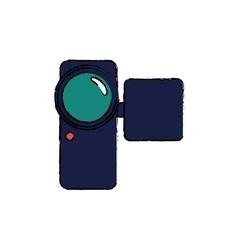 Portable digital camcorder vector