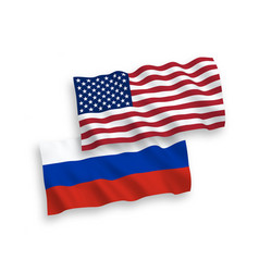 russian and american flags vector image