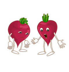 sad and surprised emotional vegetable vector image
