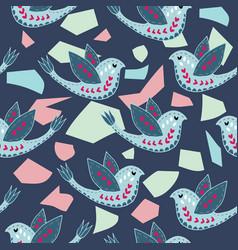 Scandinavian birdie pattern design vector
