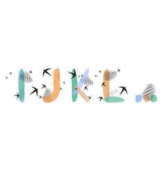 Set hand drawn letters i j k l flock vector