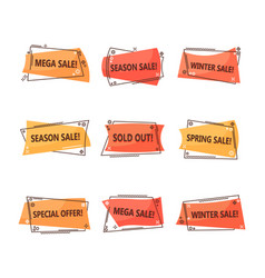 set of isolated tags for clearance sale vector image