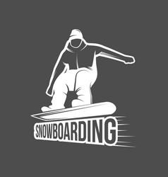 set of snowboarding badges vector image