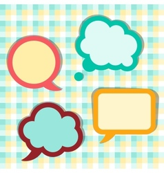 Set of sticker speech bubbles vector