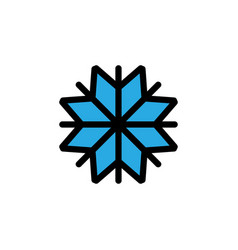 snowflake icon graphic design template vector image