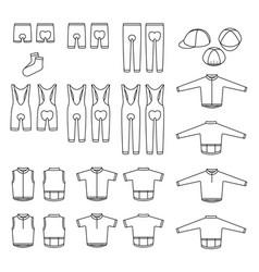 Sport bike wear set vector