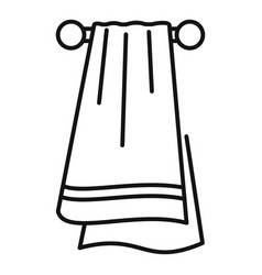 Sport towel icon outline style vector