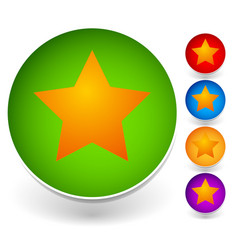 star in a circle icon graphics vector image
