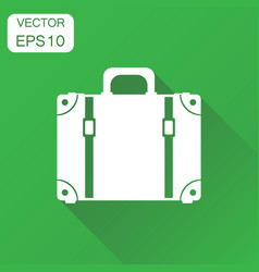 Suitcase icon business concept case pictogram on vector